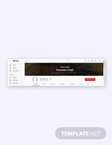 Free YouTube Fashion Channel Template
