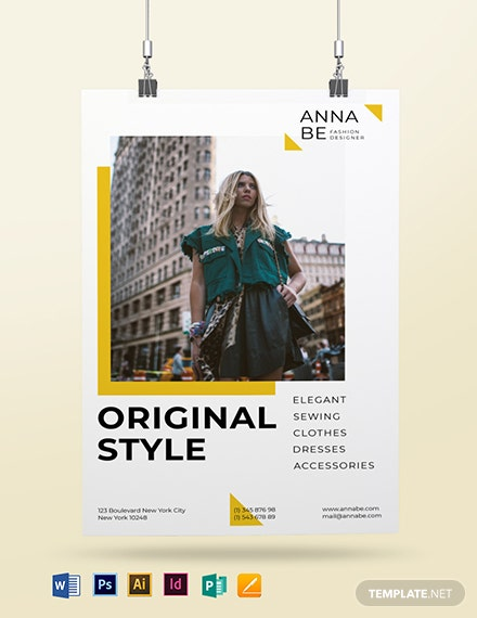 Fashion Designer Poster Template