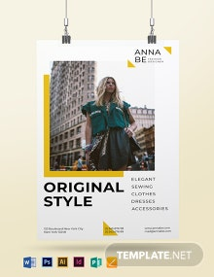 Fashion Designer Poster Template