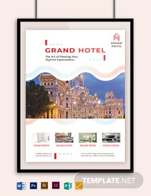Grand Hotel Poster Template