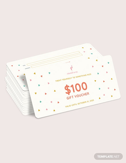 Sample Cash Gift Voucher