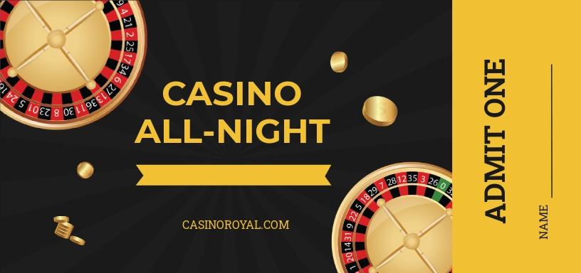 Casino Ticket Voucher Template
