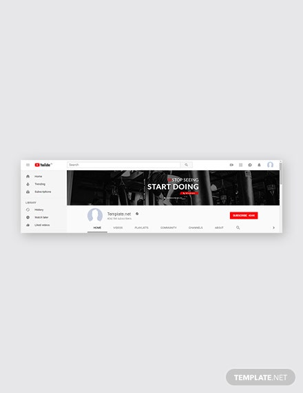 Gym YouTube Channel Art Template