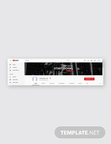 Free Gym YouTube Channel Art Template