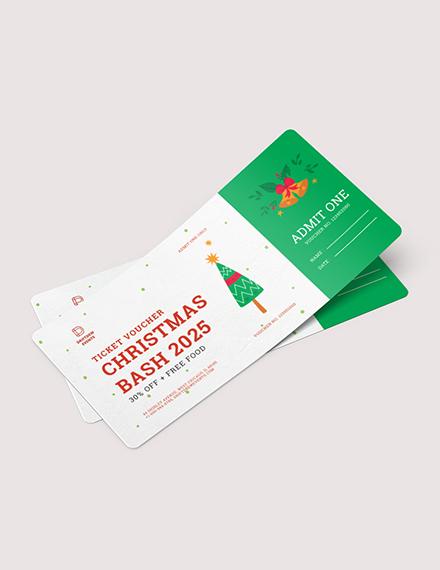 Christmas Ticket Voucher Download