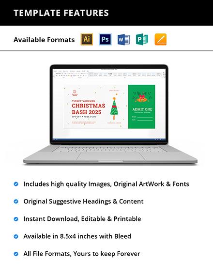 Editable Christmas Ticket Voucher