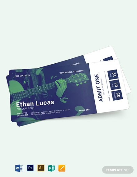 Concert Ticket Voucher Template