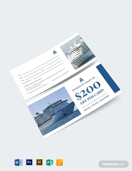 Cruise Travel Voucher Template