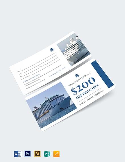 Cruise Travel Voucher Template