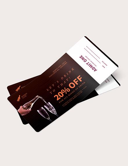 Drink Ticket Voucher Download