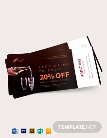 Drink Ticket Voucher Template