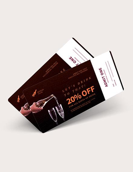 Sample Drink Ticket Voucher
