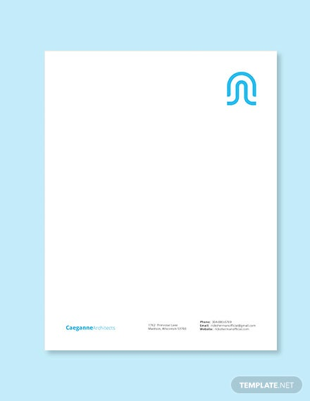 architecture firm letterhead