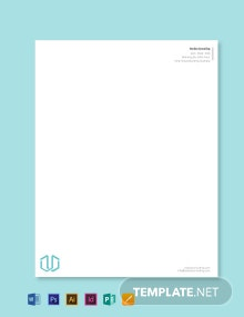 Business Consultant Letterhead Template