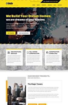 Free Construction Company PSD Website Template