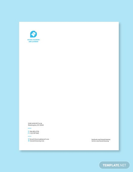 Cleaning Company Letterhead