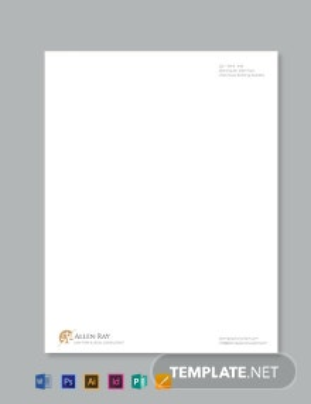 Legal Services Letterhead Template