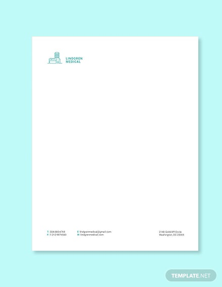 Medical Clinic letterhead template