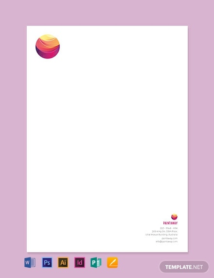 Painting Contractor Letterhead Template