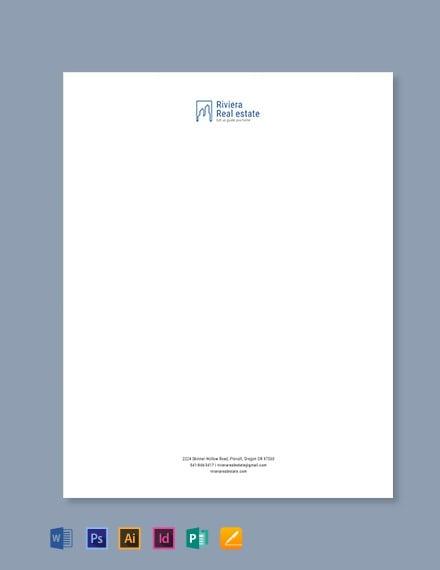 real estate agency letterhead