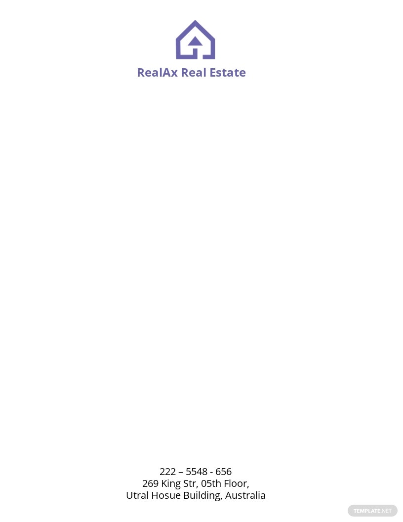 Real Estate Company Letterhead Template.jpe