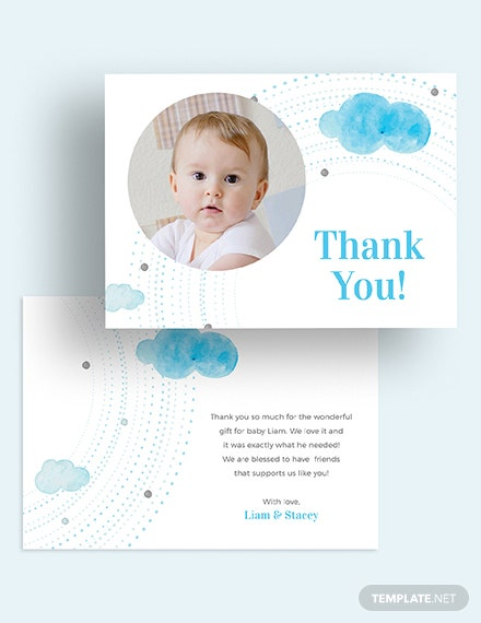 Baby Thank You Card Download