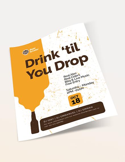 Sample Beer Festival Flyer