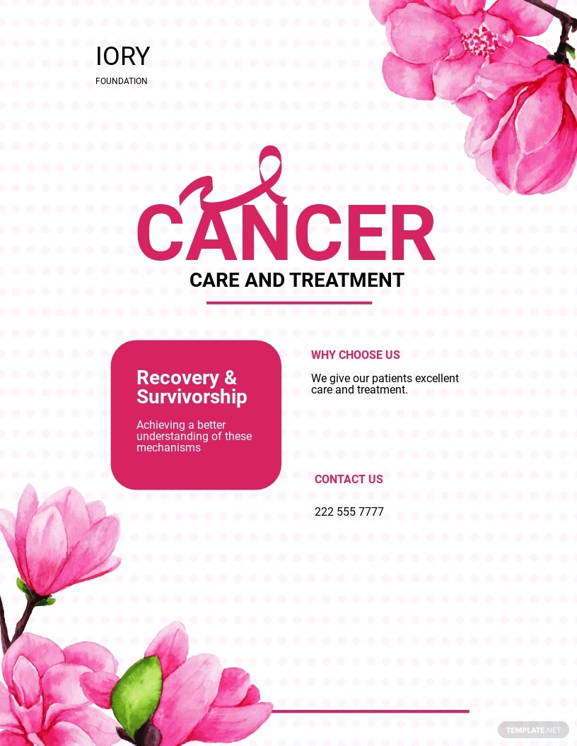 Cancer Treatment Flyer Template.jpe