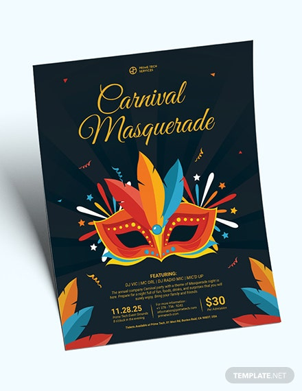 Carnival Masquerade Party Flyer Download