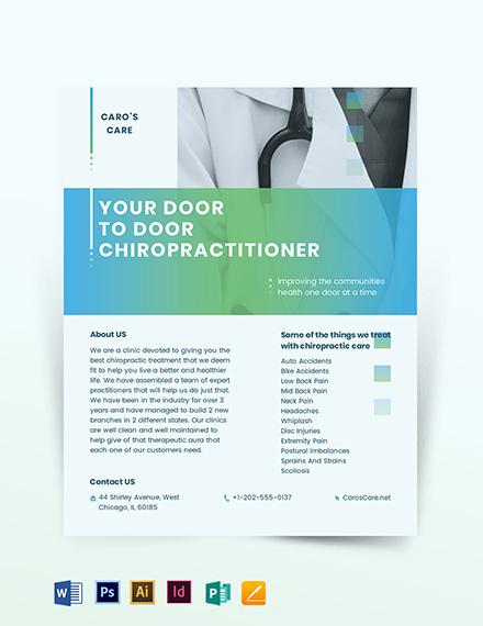 chiropractor flyer template
