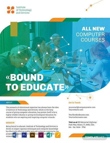 computer course flyer template 440x570 1