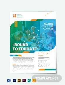 Computer Course Flyer Template