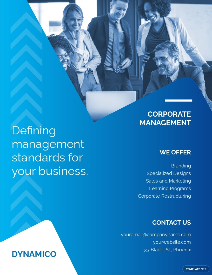 Corporate Management Flyer Template