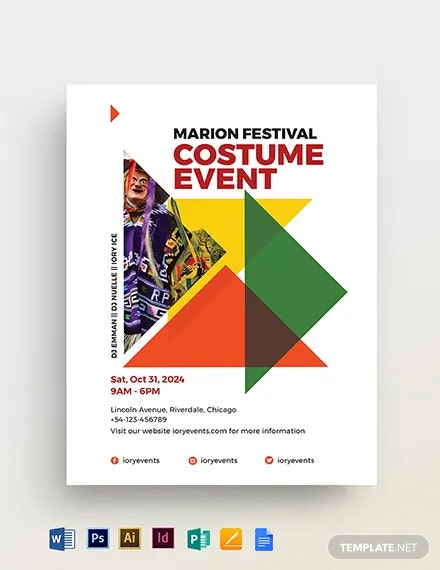 Costume Party Flyer Template
