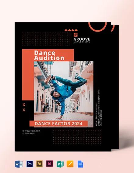 Sample Dance Audition Flyer Template