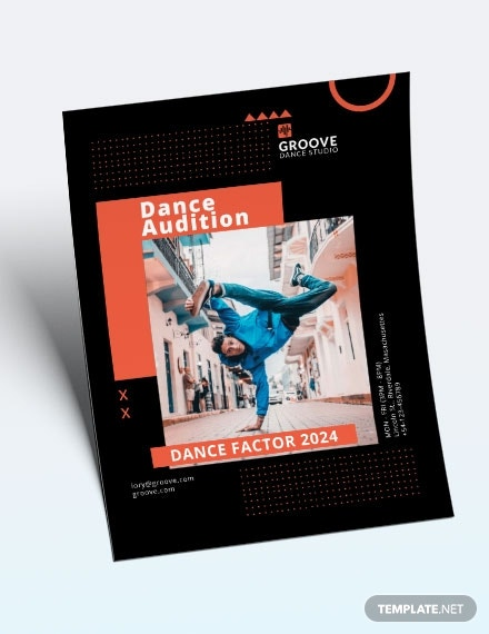 sample dance audition flyer template