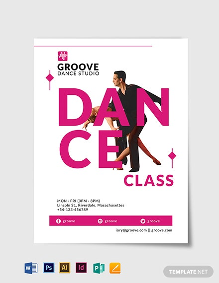 Dance Class Flyer Template