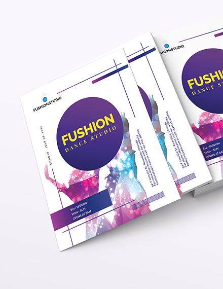 Dance Studio Flyer Download