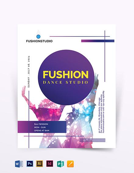 Dance Studio Flyer Template