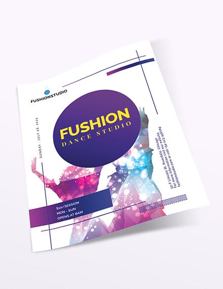 Sample Dance Studio Flyer