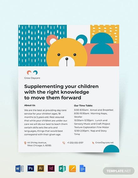 Daycare Center Flyer Template