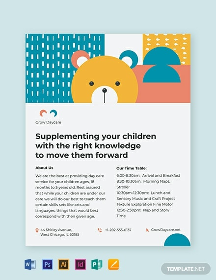 daycare center flyer template 440x570 1