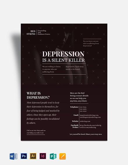 Depression Flyer Template