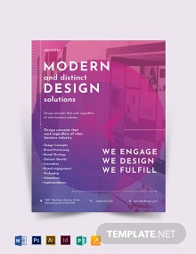 Design Company Flyer Template