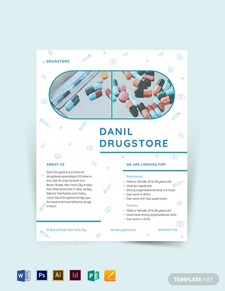 drug flyer template