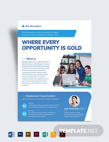 Employment Agency Flyer Template