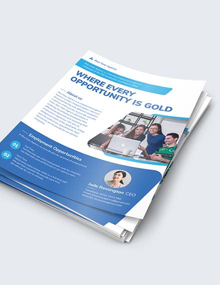 Sample Employment Agency Flyer