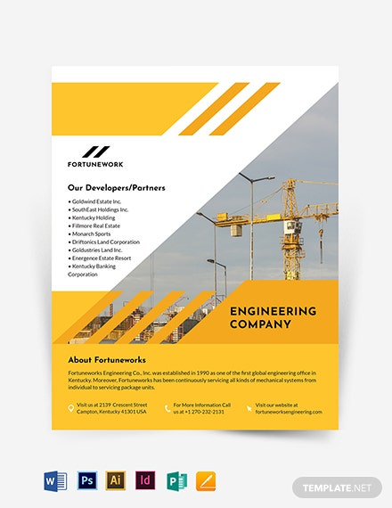 Engineering Company Flyer Template