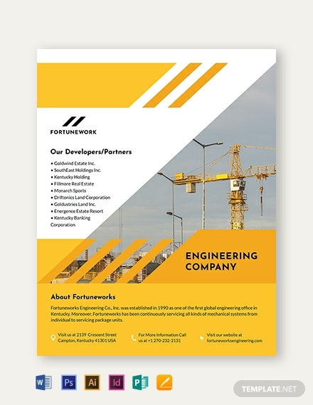 engineering company flyer template 440x570 1