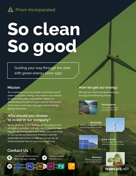 environmental company flyer template 440x570 1